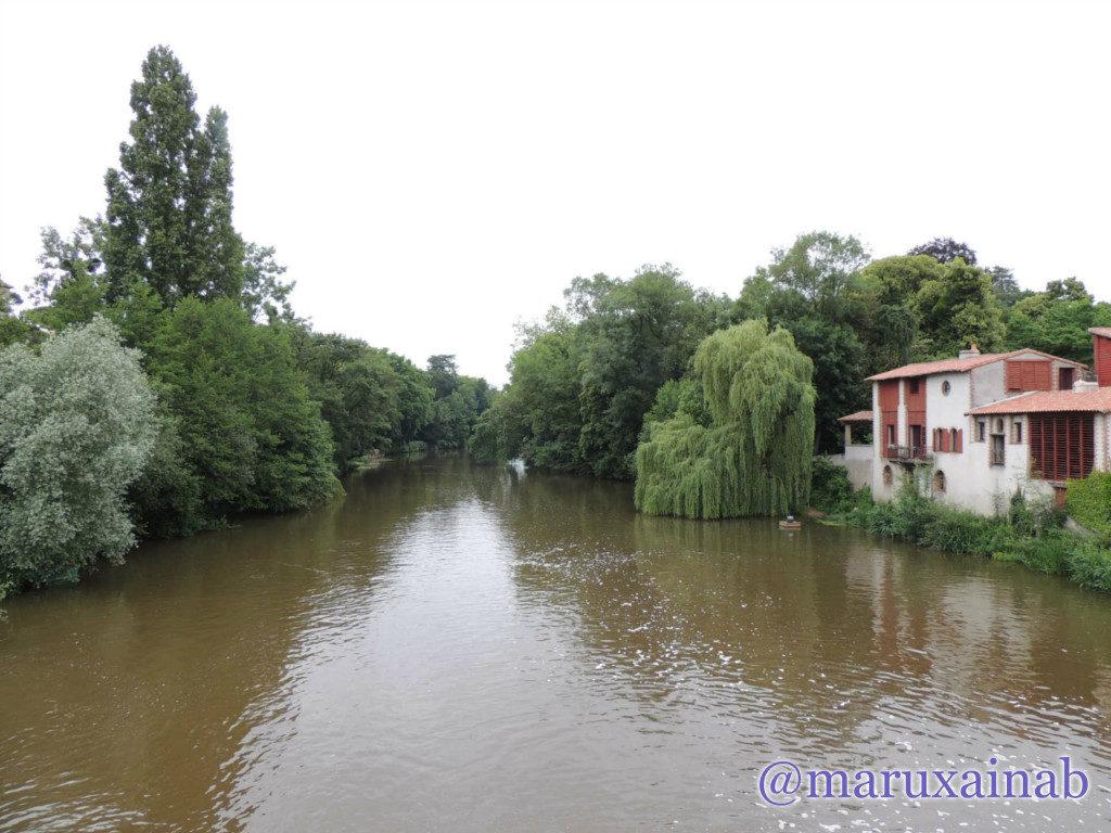 """Vista del río desde """"le Pont de la Vallée"""""""