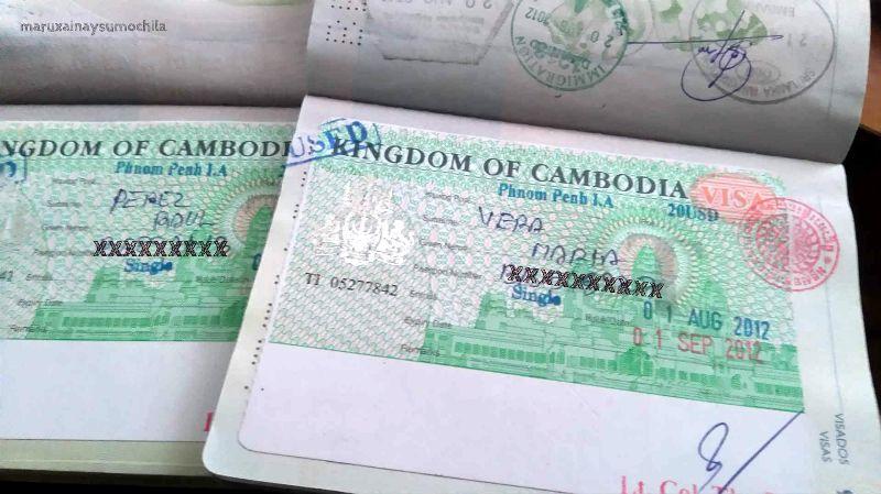 Pasaporte Camboya
